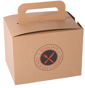 "Large Stackable Catering Box with Handle - 8"" x 5 1/2"" x 6"""