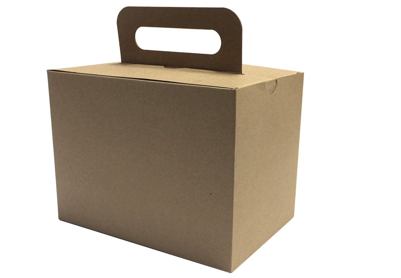 Large Kraft Take Out Box | Take Out Food Container with Handle