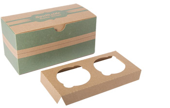 Kraft Standard 2 Cupcake Box with Insert