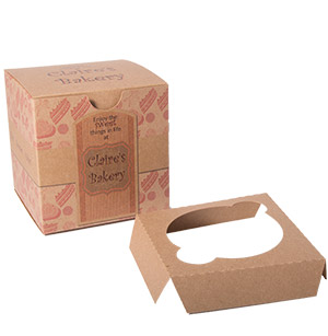 Kraft Jumbo Cupcake Box with Insert