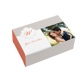 6 x 4 x 2 Fold-up Box Monogram Design