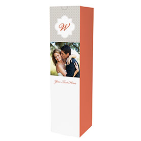 3.25 x 3.25 x 12.75 Wine Box Monogram