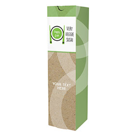 3.25 x 3.25 x 12.75 Wine Box Organic Circles