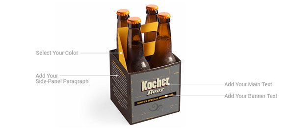 Custom 4 Pack 12 oz. Beverage Carrier | ZoxxBox