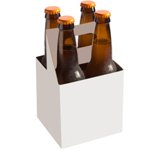 Beer bottle carrier template blank six pack holder from william s beer packageing pronofoot35fo Gallery